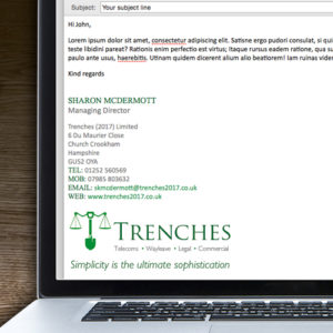 trenches-email-signature-design-in-hampshire