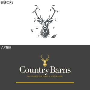 Country Barns Logo Before and After