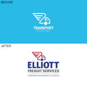 Elliott Freight Services Logo before and after