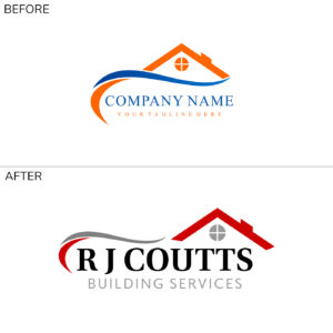 RJ Coutts Logo before and after
