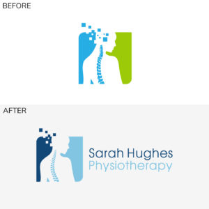 Sarah Hughes Logo before and after
