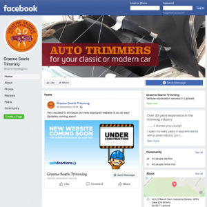 Graeme Searle Auto Trimmers Facebook Branding