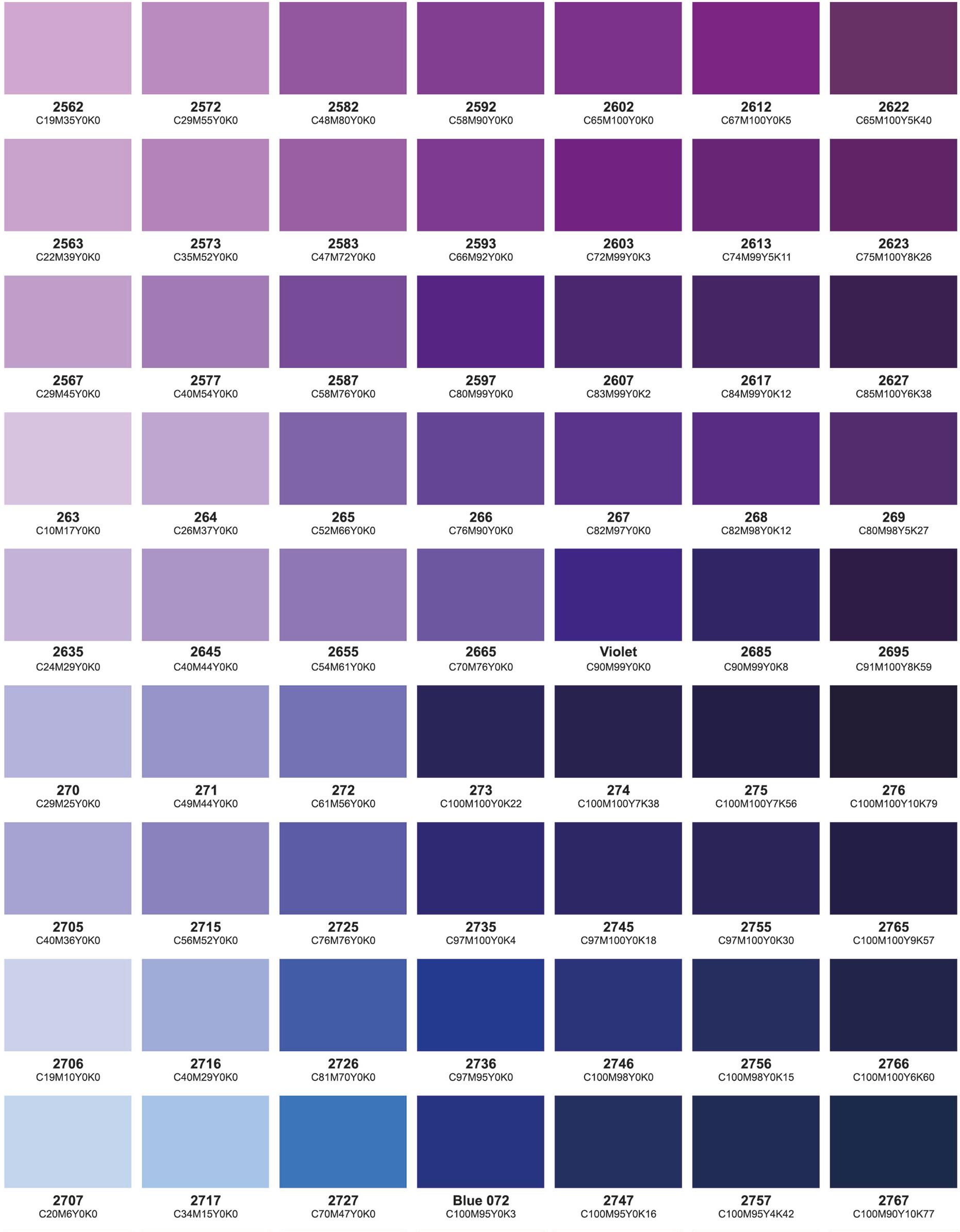 Colour chart part 5